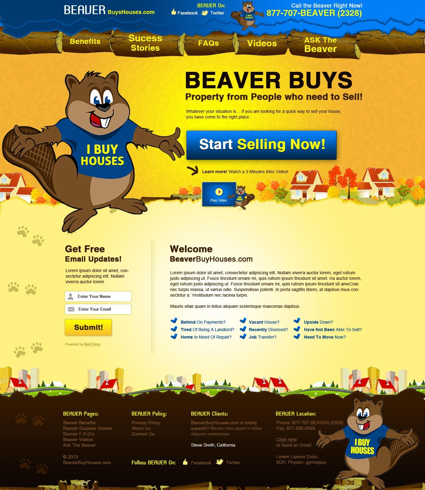 Help BeaverBuysHouses.com with a new website design