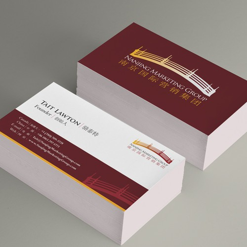 Help Nanjing Marketing Group with Biz Cards and Stationary