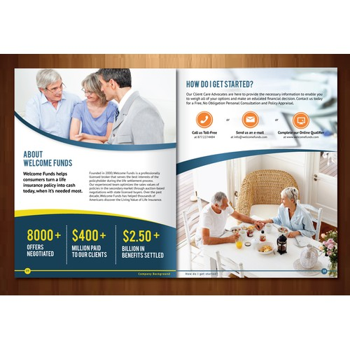 Create the next brochure design for Welcome Funds