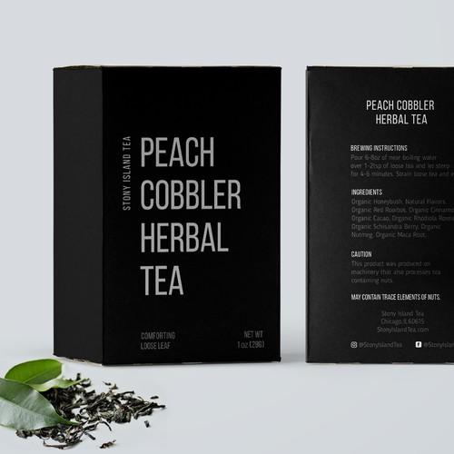 Peach Cobbler Herbal Tea design