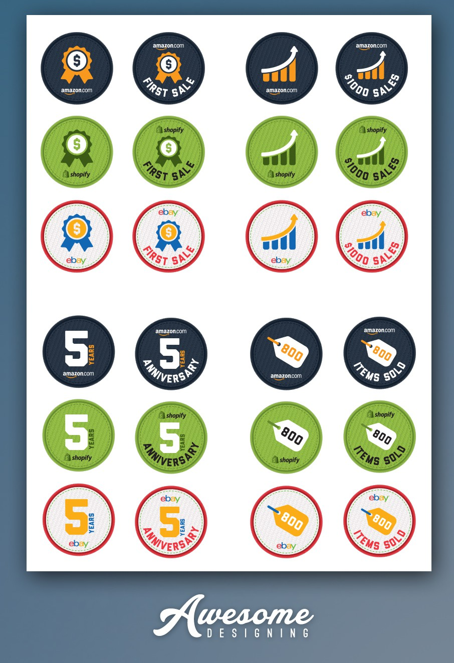 Gamified Merit Badges for e-Commerce sellers and retailers