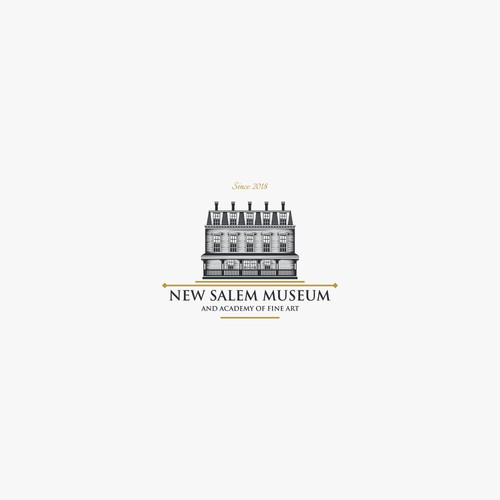 Classic and detail logo for new salem museum and academy of fine art
