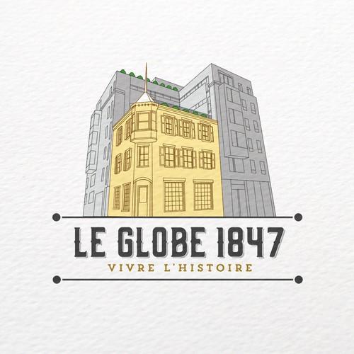 Bold logo concept for Hotel