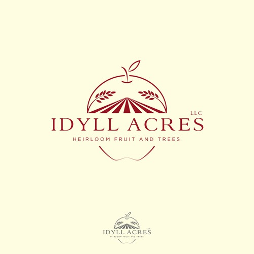 Logo for an apple orchard