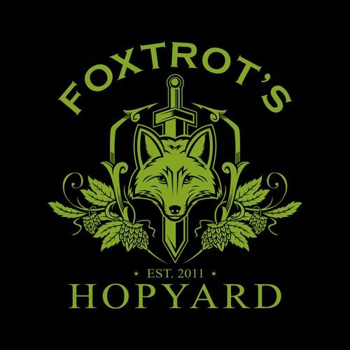 Luxury Fox Logo for Hopyard Company