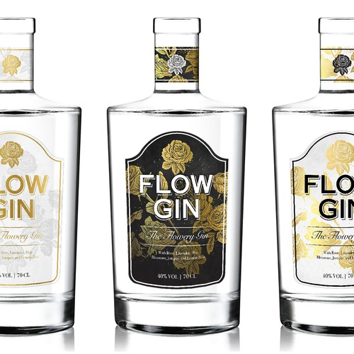 A Vintage Style Label For A Premium Gin