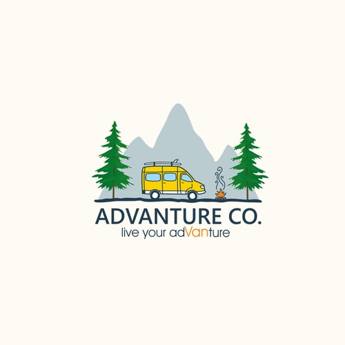Advanture Company logo design