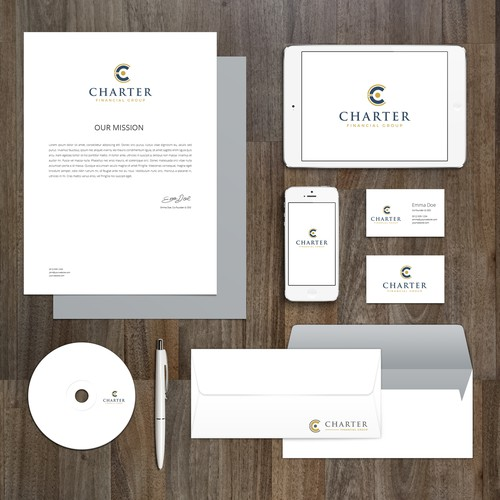 Logo and brand identity for Charter