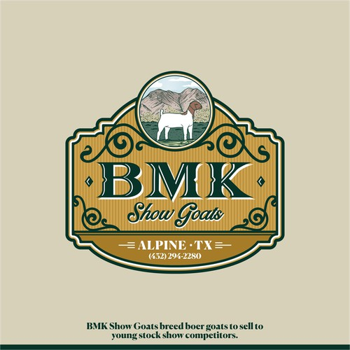 Logo for BMK Show Goats