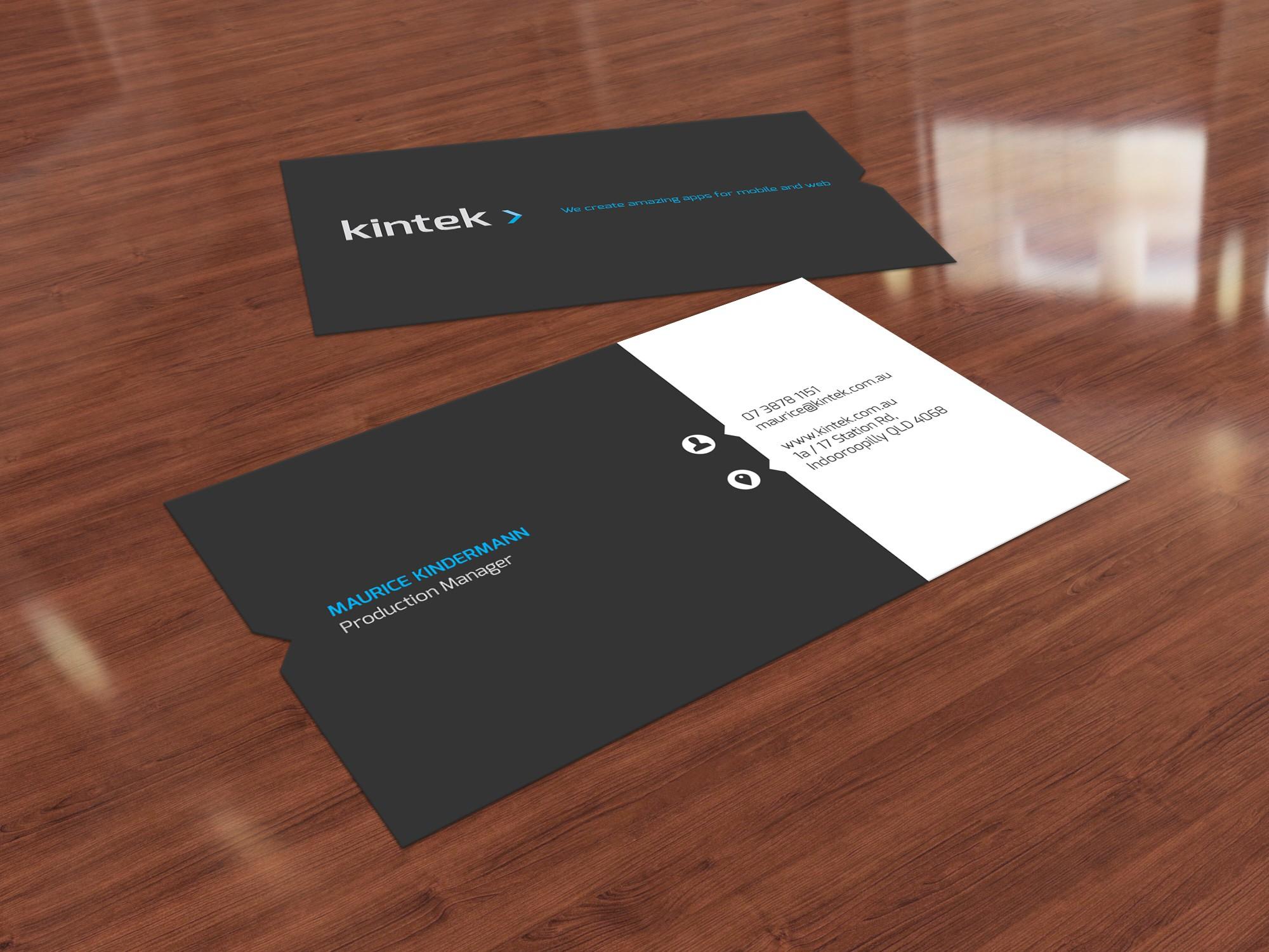 Kintek: Mobile App Dev Company Business Card