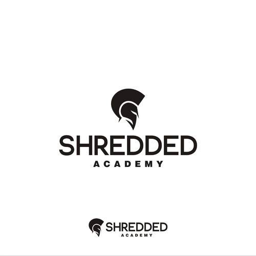 simple, clean and sharp design logo type for SHREDDED ACADEMY