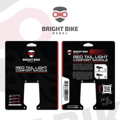 Red tail light saddle