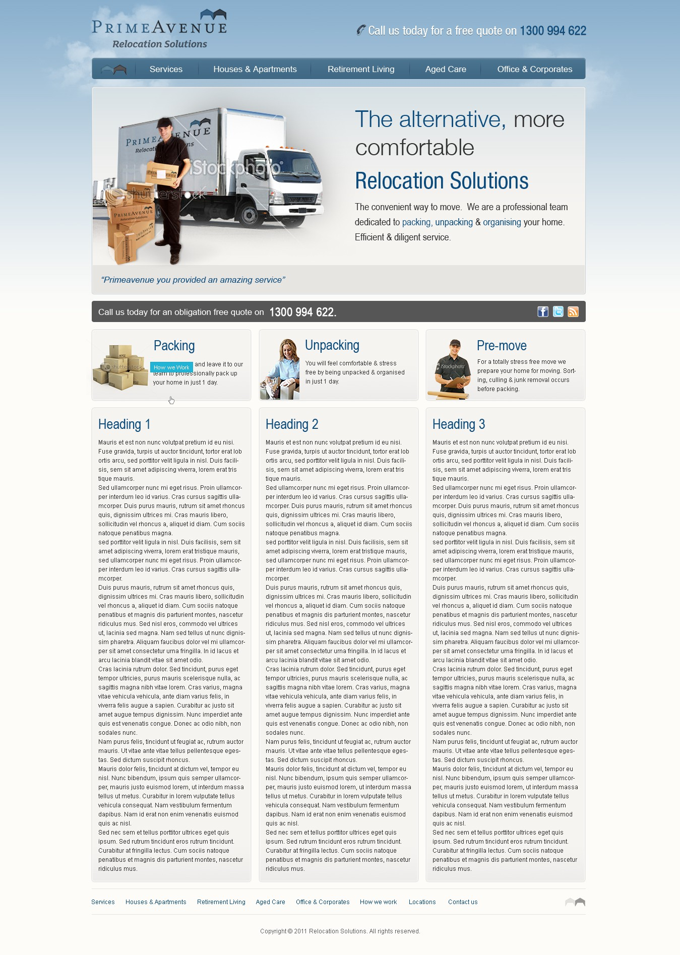 PrimeAvenue Relocation Solutions needs a new website design