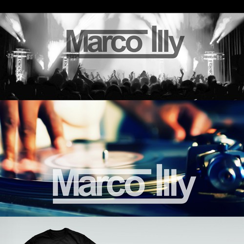 Strong electro House styled DJ Logo