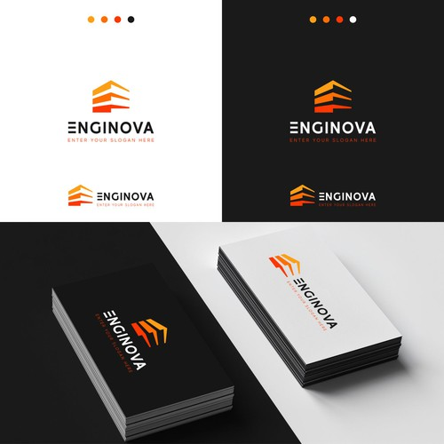 Enginova Logo Design