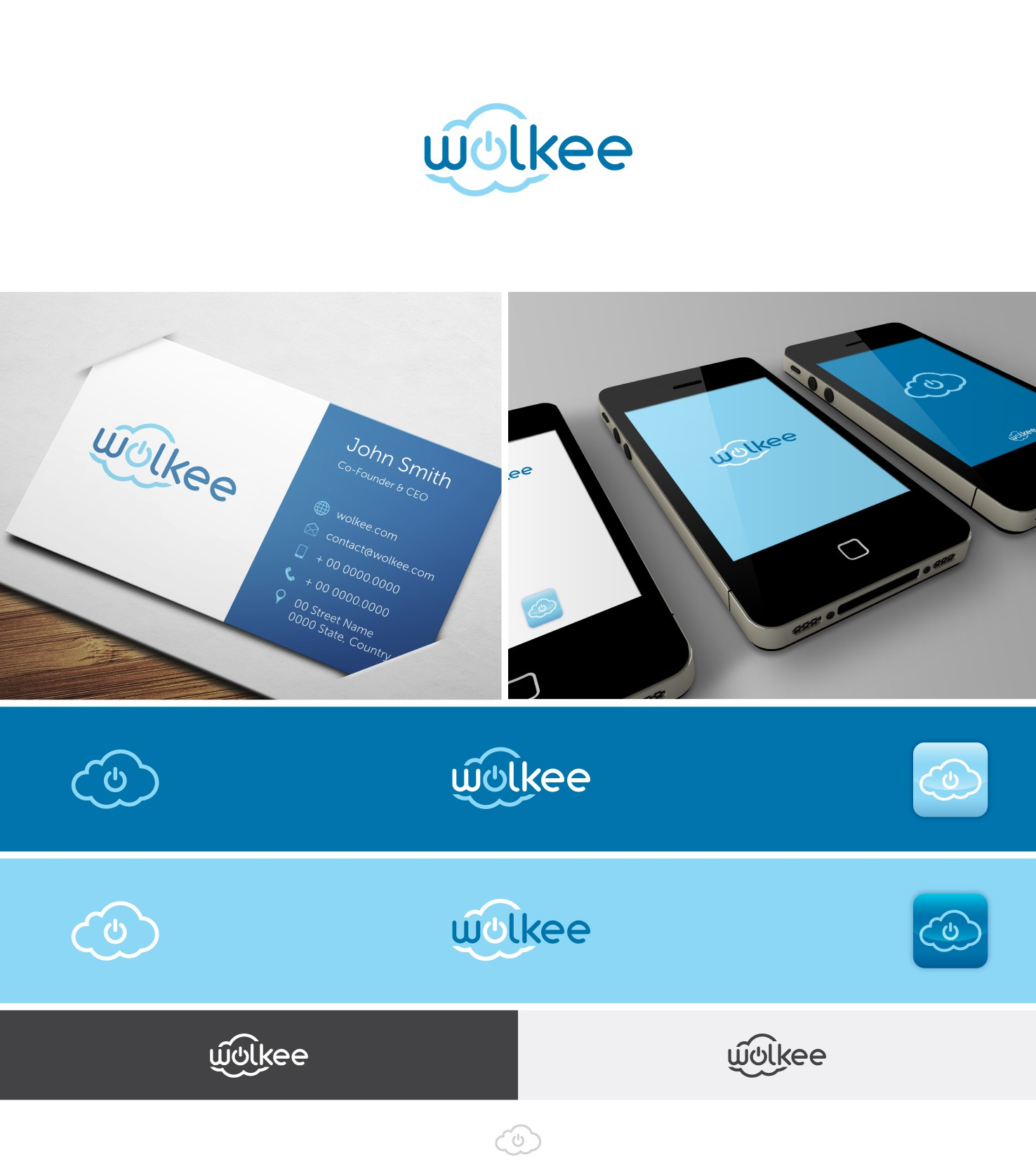 Help wolkee with a new logo and business card