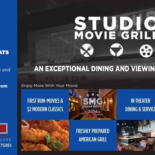 Create an ad for Studio Movie Grill