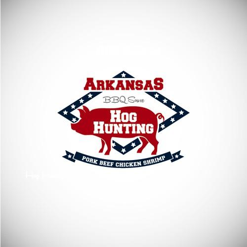HELP create our Product Labelfor Arkansas Hog Hunting Bar B Q Sowce