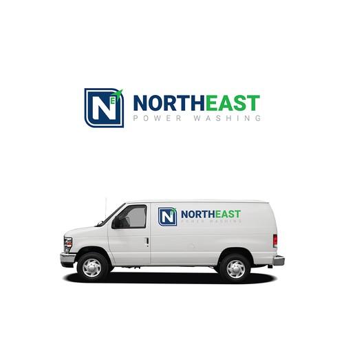 Northeast Powerwashing Logo Concept