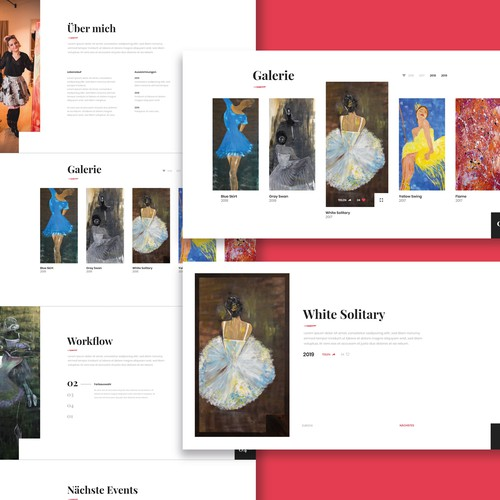 Webdesign Gallery for a german Artist