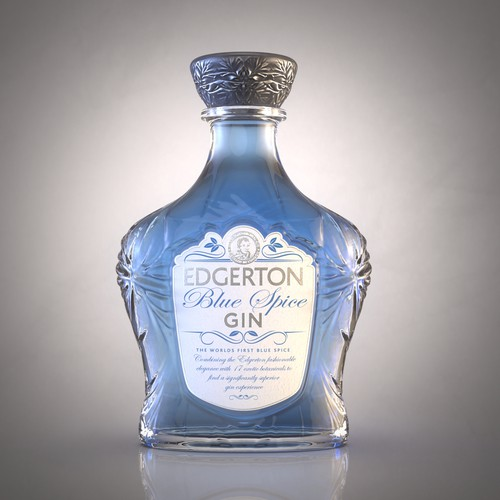 Re-Design a luxury blue Gin