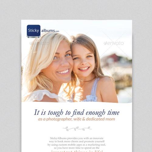 Marketing e-blast for photography company