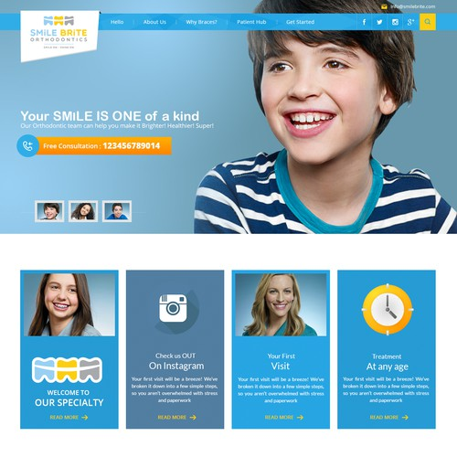 Create Responsive Web Design for Teenage Friendly Modern Medical Office