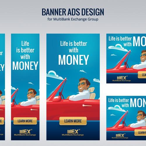 Banner ads design for MultiBank Exchange Group