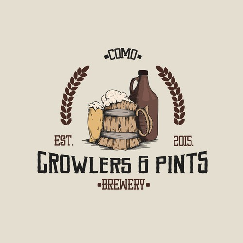 Vintage - Hand drawn logo design for Brewery