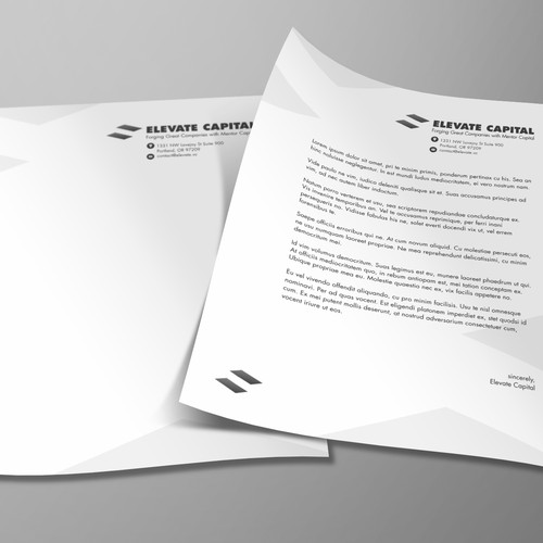 letterhead design for Elevate Capital