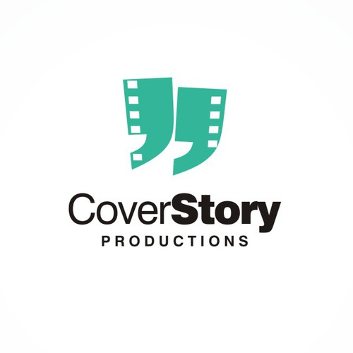 Create a logo for a production company that tells stories with purpose