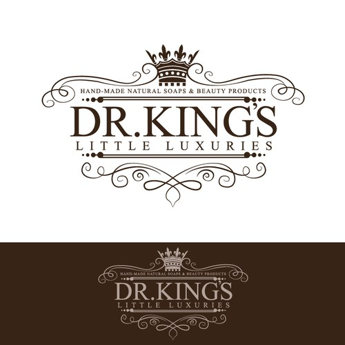 Create the new logo for Dr. King's Little Luxuries - handmade natural soaps & beauty products