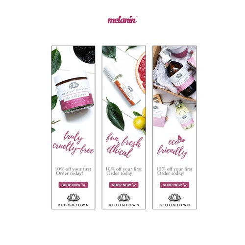 Clean Web Banner Concept for Beauty Products