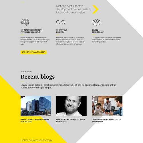 Swedish consulting company in need of a creative web design that inspires the viewers!