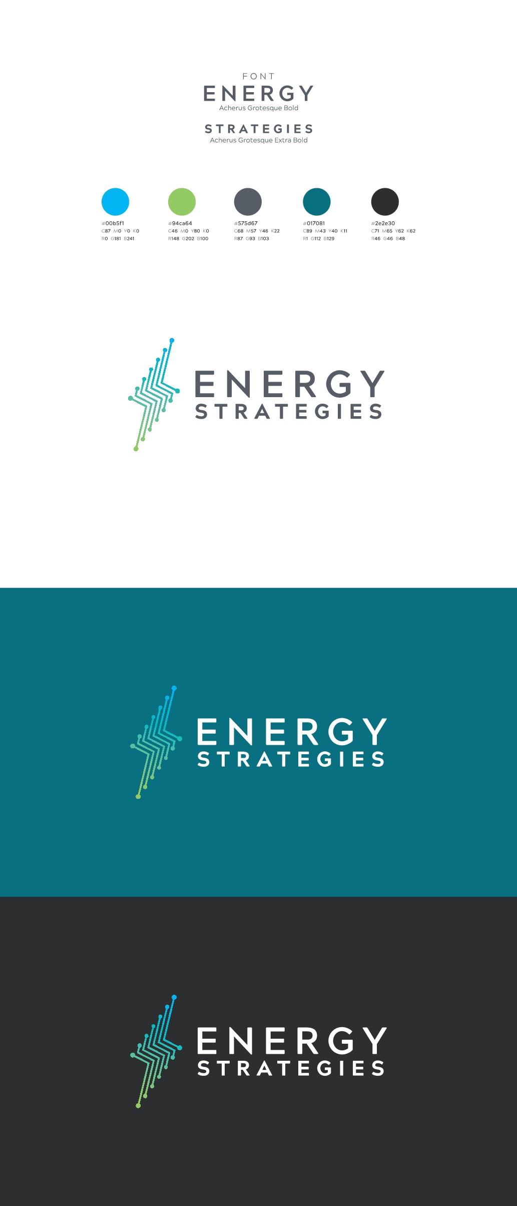 Create a powerful new logo for Energy Strategies, one of the foremost consulting firms in the West