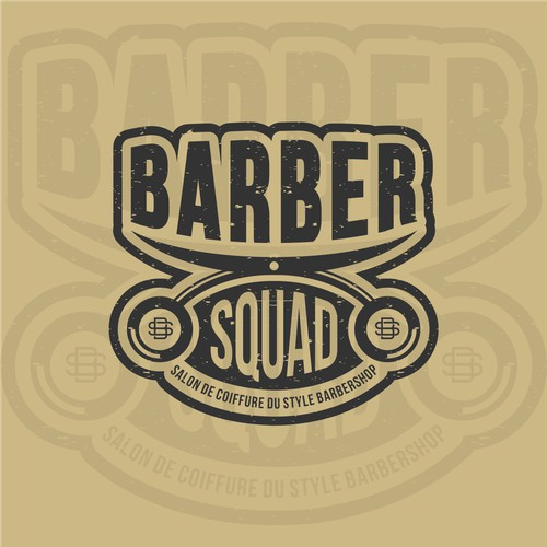 creative vintage barbershop for BARBER SQUAD