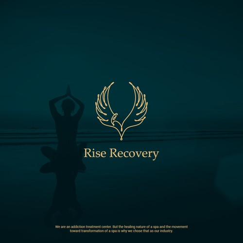 Rise Recovery logo design
