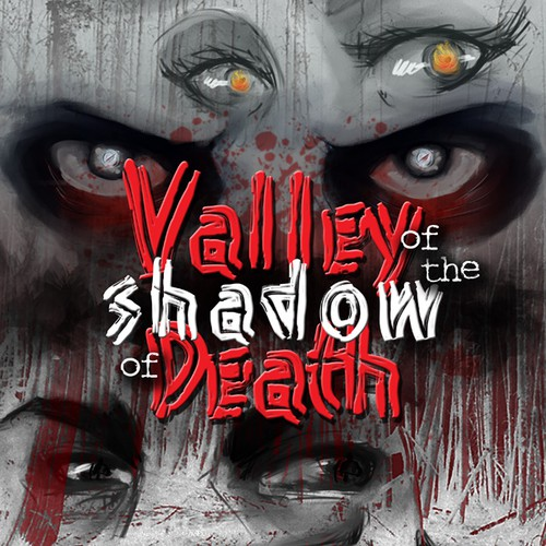 "Design a captivating ebook cover for a horror novel titled: ""Valley of the Shadow of Death""."