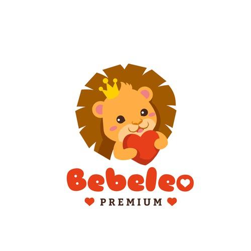 Baby lion logo design for an ultra sound brand