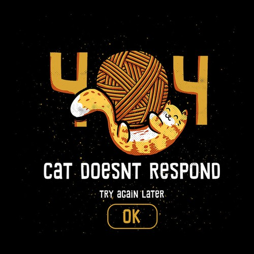 404 Cat Doesn't Respond