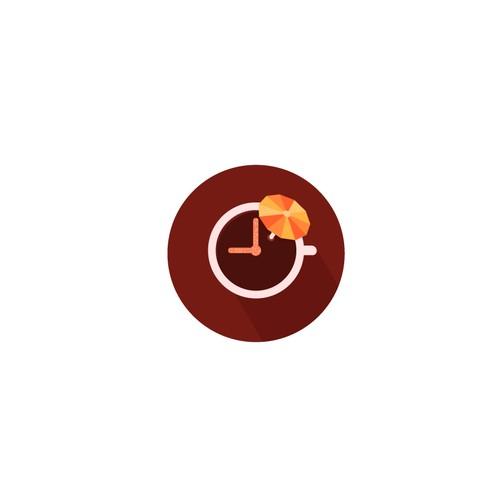 Coffee and umbrella logo app