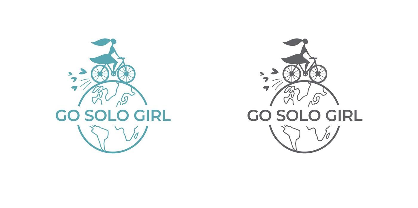 Design a fun or inspiring logo for a female solo travel blog!