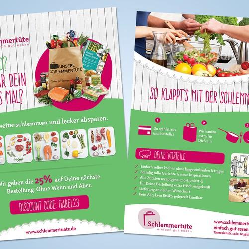 Door-opener-flyer for the German food startup Schlemmertüte