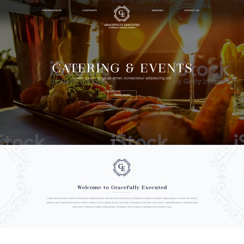 Catering and Special Events Elegant Website Design