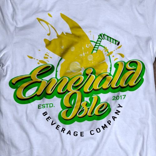 "Logo For ""Emerald Isle Beverage Company"""