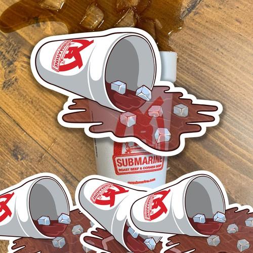 Cutting Sticker for Fastfood restaurant