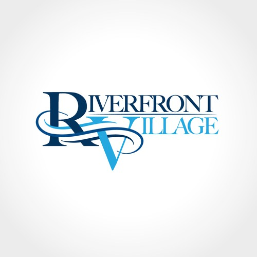 Sophisticated logo for Riverfront Village