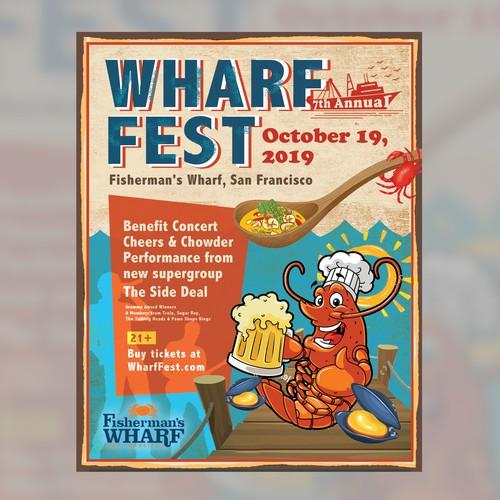 wharf fest poster
