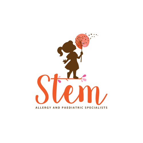 Whimsical logo for an allergy and pediatric specialist