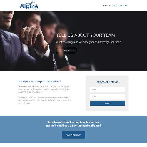 web page for Alpine